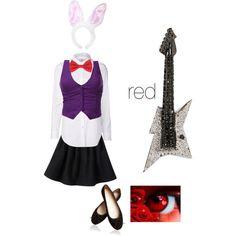 Anthro Bonnie the Bunny cosplay id each.