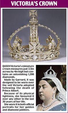 Victoria's crown of diamonds...