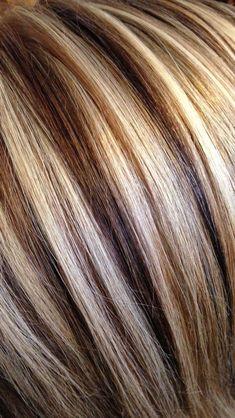 3 Color Hair Foils For Contrast Sara's Hair Creations In 2019 . Hair Color Ideas hair color and foil ideas Hair Highlights And Lowlights, Colored Highlights, Chunky Highlights, Foil Highlights, Low Lights And Highlights, Short Hair Color Highlights, Blonde Highlights With Lowlights, Brown Balayage, Medium Hair Styles