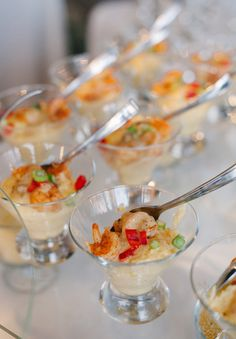 Shrimp and grits is a must at any southern wedding!!! #HIGHCOTTON #SOUTHERNWEDDINGS