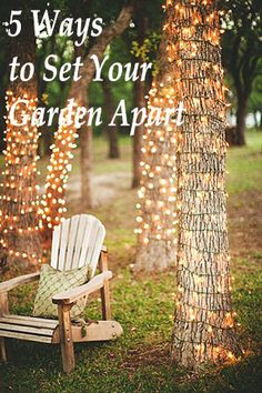 Light up your garden! 5 Ways to Aesthetically Set Your Garden Apart