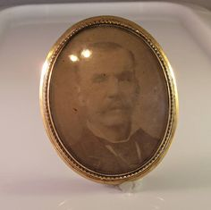 Victorian Gold Portrait Brooch Low Karat Large 2.5