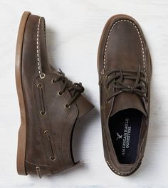 Brown AEO Chukka Boat Shoe. Show us your #AEOSTYLE on Instagram or Twitter for a chance to be featured on AE.com.