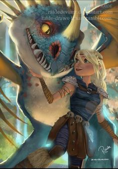 Astrid and Stormfly. :)