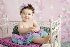 Image of Lilac & Turquoise Pettiskirt - Newborn, Baby, Toddler Size - NEW