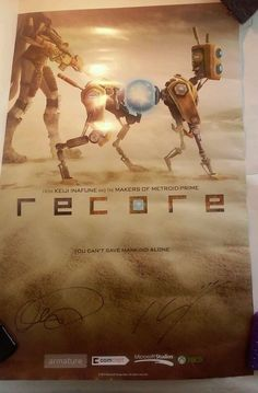 Recore Poster E3 2015 Exclusive XboxOne Fanfest 2015 After Party Signed! Rare