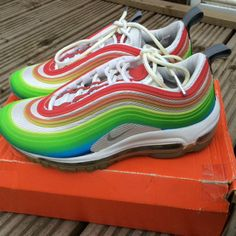 d7e23f26205650 Brand new Nike air max 97 lux rainbow edition VERY RARE only one size left