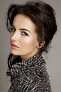 Camilla Belle....Love her lipstick and natural makeup and of course the perfect bold eyebrows!!!