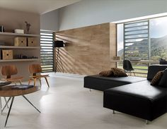 Ceramic Tile Design - Porcelanosa Marble Look / Marble Travertine