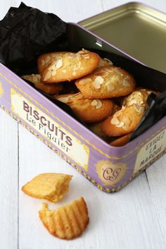 Honey, Lemon & Almond Madeleines recipe