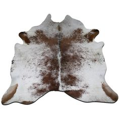 E-415 Brown and White Cowhide Rug Size 7 1/4 X 7 1/4 Feet Cowhide Rug ($299) ❤ liked on Polyvore featuring home, rugs, floor & rugs, home & living, silver, brown and white rug, cow hide rug, cowhide area rug, cowhide patchwork rug and brown and white cowhide rug