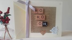 Funny Christmas Card HO HO OH Scrabble Tile by TheHandmaidensTale