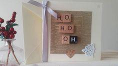 Funny Christmas Card HO HO OH Scrabble Tile by TheHandmaidensTale