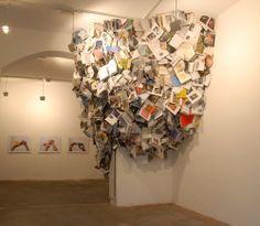 book art installation