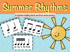 *ORFF-inspired product!Looking for a fun rhythm-review activity for your music classroom?This is a tried-and-true Back-to-School lesson plan that upper elementary and middle school kids will love! Included in this lesson are:- 9 summer-themed rhythmic building blocks - rhythmic building blocks without words- student worksheet for composition - lesson plan for implementing the summer rhythms into a composition and drum circle activityEnjoy!