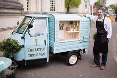 A vintage Piaggio Ape turned unique mobile drinks van