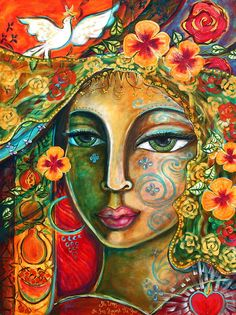 Shiloh Sophia McCloud is by far one of my favorite artists. Her paintings capture womanhood so vibrantly