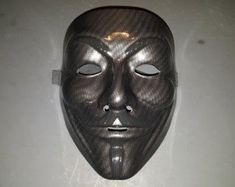 Items similar to Custom Carbon Fiber Graphic Guy Fawkes/Anonymous Mask! Anonymous Mask, Guy Fawkes, The 5th Of November, Carbon Fiber, Guys, Unique Jewelry, Masks, Vintage, Costume Jewelry