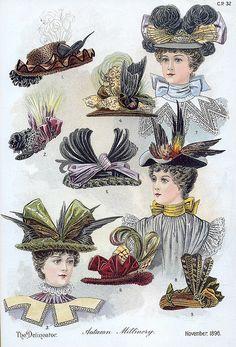 1896, I love weird old hats