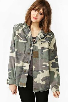Spiked Army Jacket