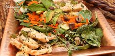 Pepper Chicken with Tahini Chive dressing. (Paleo, nut, gluten and dairy free)