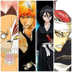 Bleach  Kon, Ichigo, Rukia and Renji