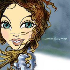 MADONNA - RAY OF LIGHT - CD Cover | par madonna toonx
