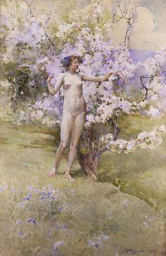 John Reinhard Weguelin – Cherry Blossom (1905) - John Reinhard Weguelin - Wikipedia