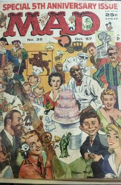 You are purchasing an original Mad Magazine No. 35 from October All pages are in tact. See photos for a better look! This issue is a must-have in every comic book collection!