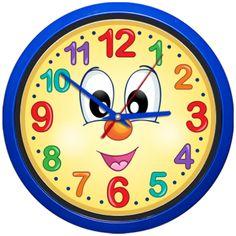 Ceas de perete cu cifre mari si o fata desenata. Clock, Wall, Decor, Watch, Decoration, Clocks, Walls, Decorating, Deco