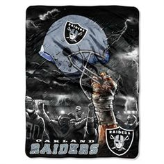 Oakland Raiders Fleece Blanket Throw 60x80