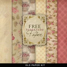 Far Far Hill - Free database of digital illustrations and papers: Freebies Vintage Background Kit