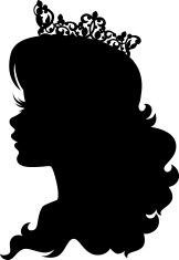 Princess Cameo Silhouette Wearing Crown stock vector art 22456214 - iStock