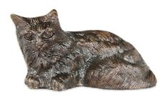 Achla Designs Mini Cat Statuary by Achla. $12.99. Bronze finish. Measures 4-1/2-inch l by 2-1/2-inch w by 2-1/4-inch h. Hand cast aluminum. An adorable cat will bring a cozy feel to your garden or front stoop.  For the animal lover in you. Crafted in hand cast aluminum.