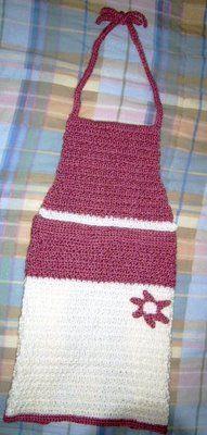 Crocheted Daisy Apron