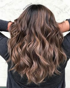Long Wavy Chocolate Hairstyle
