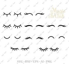 Gallery: Unicorn Eyelashes Template Free, - The Nice Collectioneyes for sewing projects Felt Crafts, Diy And Crafts, Unicorn Eyes, Unicorn Head, Cricut, Unicorn Birthday Parties, Doll Face, Clipart, Eyelashes