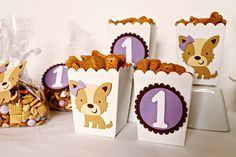 Pretty Puppy Party Snack Boxes by PinwheelLane on Etsy, $12.00