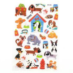 Dog Puffy Stickers   Hobbycraft