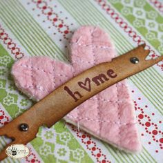 quilted heart and Tim Holtz banner die