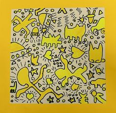 keith haring style art projects - focus on contour and movement