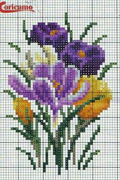 Cross Stitch Art, Cross Stitch Flowers, Cross Stitch Designs, Cross Stitching, Cross Stitch Embroidery, Cross Stitch Patterns, Crochet Designs, Flower Patterns, Needlepoint