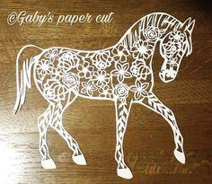 Items similar to Horse papercut template on Etsy Paper Cutting Patterns, Paper Cutting Templates, Stencil Patterns, Kirigami, Papercut Art, Quilling Comb, Neli Quilling, Horse Template, Doodle Art Letters