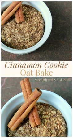 Cinnamon Cookie Oat Bake   Strength and Sunshine - Like a warm cinnamon cookie fresh from the oven, this gluten-free, vegan, and refined sugar-free oat bake will make the perfect breakfast.