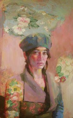 green - woman - Katie Wilson - figurative painting
