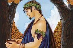 Dionisio é o deus do vinho, das festas e do prazer. É filho de Zeus uma humana, morta ainda enquanto estava grávida pelo ciúme de Hera.
