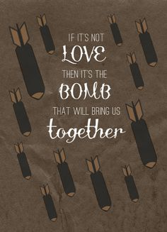 It's the bomb that will bring us together - The Smiths Quote Art Print by AndSoItGoesShop on Etsy - tattoo inspired art Bukowski, Morrissey Quotes, The Smiths Lyrics, Good Music, My Music, Art Prints Quotes, Quote Art, Will Smith Quotes, How Soon Is Now