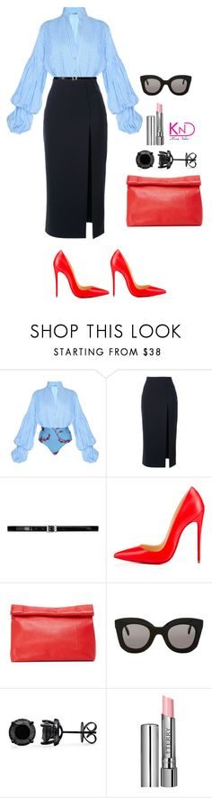 """Untitled #3253"" by kenndee ❤ liked on Polyvore featuring Johanna Ortiz, Scanlan Theodore, Yves Saint Laurent, Christian Louboutin, Marie Turnor, CÉLINE and By Terry"