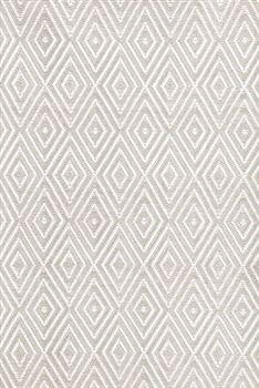 Dash and Albert Diamond Platinum / White 6 x 9 Area Rug