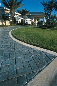find this pin and more on garden ideas concrete driveways pictures